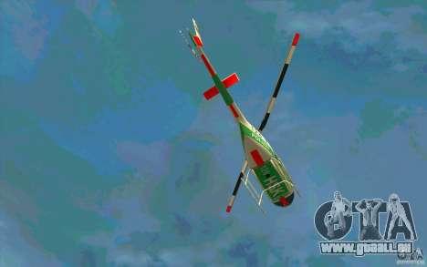 Bell 206 B Police texture3 für GTA San Andreas Innenansicht