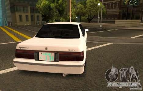 Toyota Crown S130 pour GTA San Andreas laissé vue