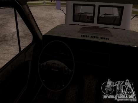 GAZ 3309 Abschleppwagen für GTA San Andreas Rückansicht