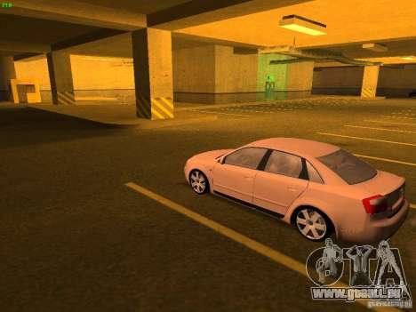 Audi S4 OEM pour GTA San Andreas sur la vue arrière gauche