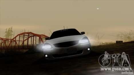 LADA 2170 Californie pour GTA San Andreas vue intérieure