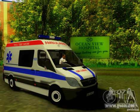 Mercedes-Benz Sprinter Baku Ambulans für GTA San Andreas linke Ansicht