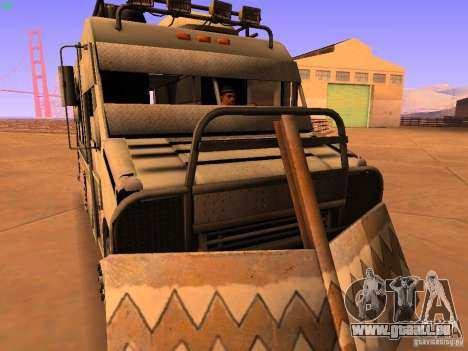 Monster Van pour GTA San Andreas vue arrière