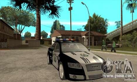 Audi A6 Police pour GTA San Andreas vue arrière