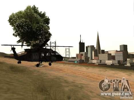 L'hélicoptère du CoD 4 MW pour GTA San Andreas vue de droite