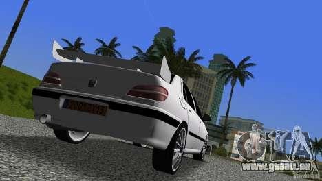 Peugeot 406 Taxi 2 für GTA Vice City Rückansicht