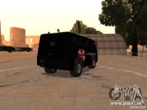 AM 7.0 Umbrella Corporation pour GTA San Andreas vue de droite