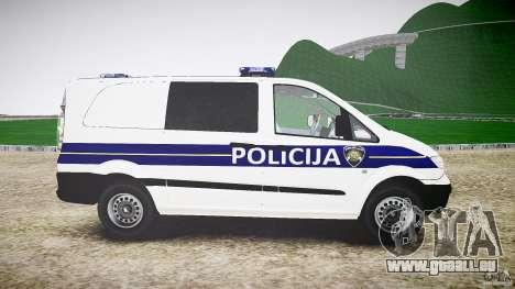 Mercedes Benz Viano Croatian police [ELS] pour GTA 4 est une vue de l'intérieur