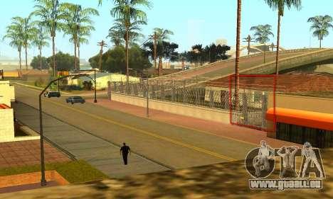 Zaun um den Groove-Sreet für GTA San Andreas her Screenshot