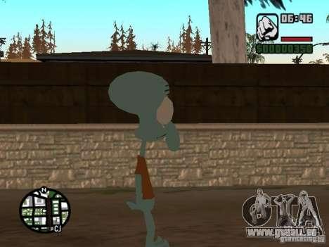 Squidward pour GTA San Andreas troisième écran