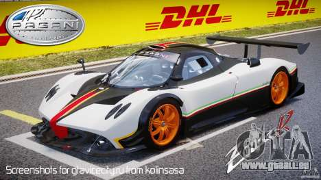 Pagani Zonda R 2009 Italian Stripes für GTA 4