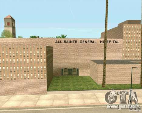 Neue Texturen aller Heiligen General Hospital für GTA San Andreas sechsten Screenshot