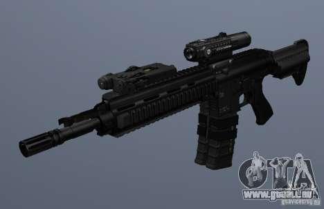 Carabine HK416 pour GTA San Andreas troisième écran