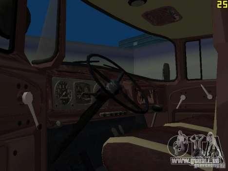 Ko-829 sur beta ZIL-130-châssis de camion pour GTA San Andreas vue de côté