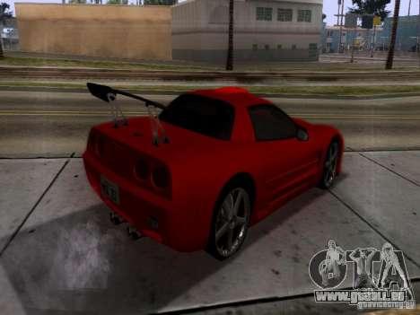 Chevrolet Corvette C5 für GTA San Andreas Rückansicht