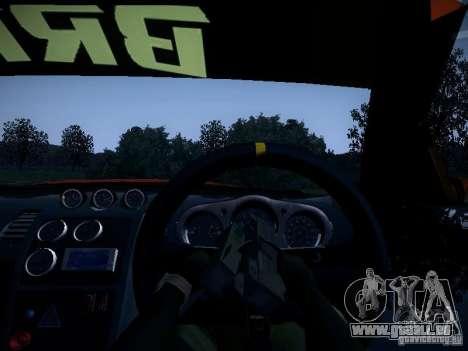 Nissan 370Z Chris Forsberg pour GTA San Andreas vue de dessus
