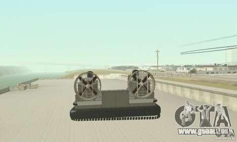 Landing Craft Air Cushion für GTA San Andreas zurück linke Ansicht