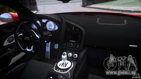 Audi R8 V10 pour GTA 4 vue de dessus