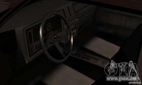 Buick Regal GNX 1987 für GTA San Andreas Rückansicht
