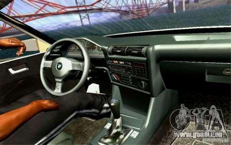 BMW E30 M3 Cabrio für GTA San Andreas obere Ansicht