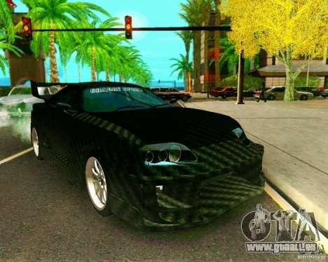 Toyota Supra Carbon pour GTA San Andreas vue de droite