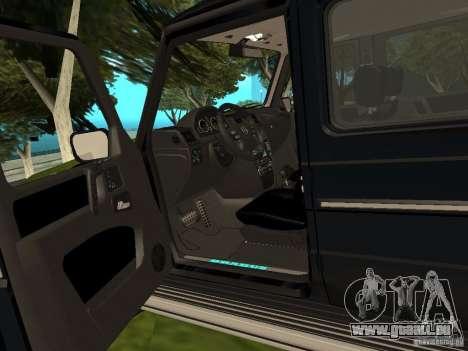 Brabus B11 W463 2008 v1.0 pour GTA San Andreas vue intérieure