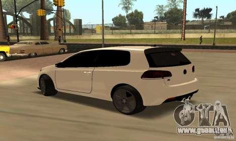Volkswagen Golf R Modifiye pour GTA San Andreas vue de droite