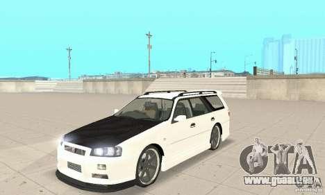 Nissan Stagea GTR pour GTA San Andreas sur la vue arrière gauche