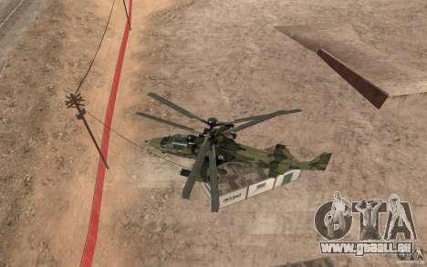 KA-52 Alligator für GTA San Andreas Rückansicht