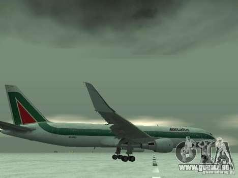Boeing 767-300 Alitalia pour GTA San Andreas vue de dessous