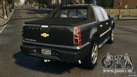 Chevrolet Avalanche Stock [Beta] pour GTA 4 Vue arrière de la gauche