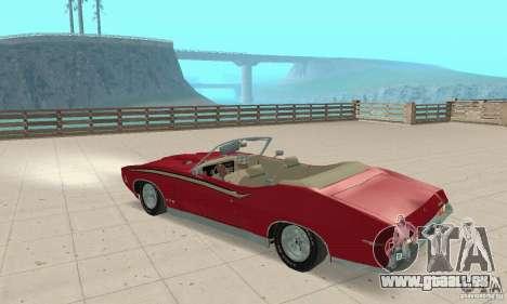 Pontiac GTO The Judge Cabriolet pour GTA San Andreas vue arrière