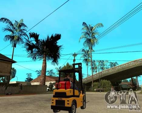 Forklift GTAIV pour GTA San Andreas sur la vue arrière gauche