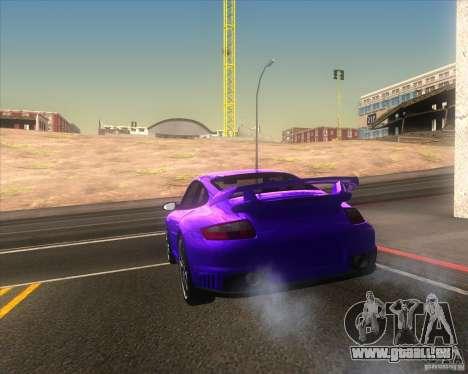 Porsche 911 GT2 (997) pour GTA San Andreas vue de côté