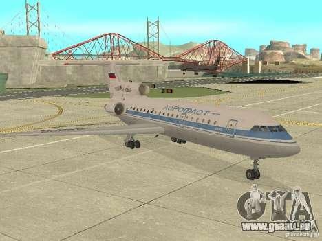 Aeroflot Yak-42 pour GTA San Andreas