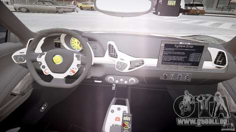 Ferrari 458 Italia - Brazilian Police [ELS] pour GTA 4 Vue arrière