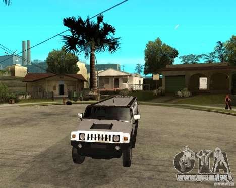 AMG H2 HUMMER 4x4 Limusine pour GTA San Andreas vue arrière