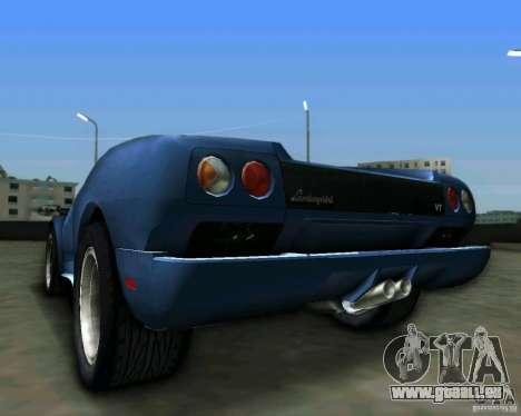 Lamborghini Diablo für GTA Vice City Rückansicht