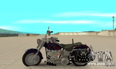 Harley Davidson FLSTF (Fat Boy) v2.0 Skin 4 pour GTA San Andreas laissé vue