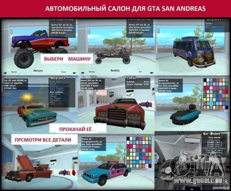 Automobil-Salon für GTA San Andreas