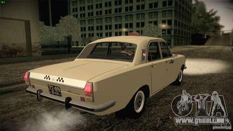 Volga GAZ-24 Taxi 01 pour GTA San Andreas vue de droite
