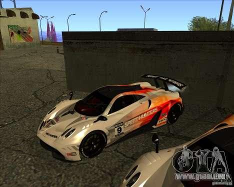 Pagani Huayra SHE pour GTA San Andreas vue intérieure