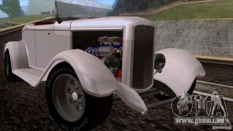 Ford Roadster 1932 pour GTA San Andreas laissé vue