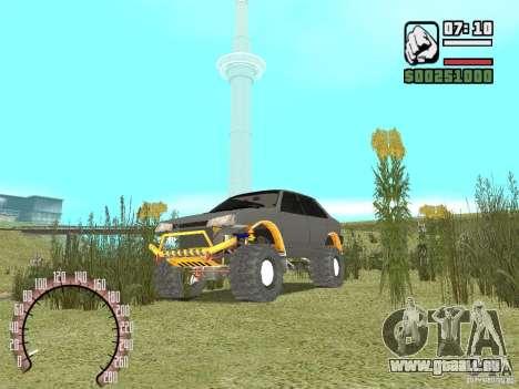 VAZ 21099 4 x 4 pour GTA San Andreas vue de droite