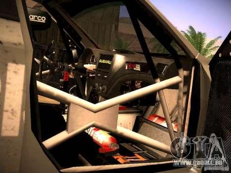 Subaru Impreza Gravel Rally pour GTA San Andreas vue de dessus