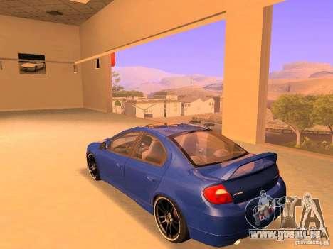 Dodge Neon SRT4 2006 pour GTA San Andreas laissé vue