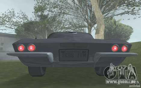 Chevrolet Corvette 427 pour GTA San Andreas vue arrière