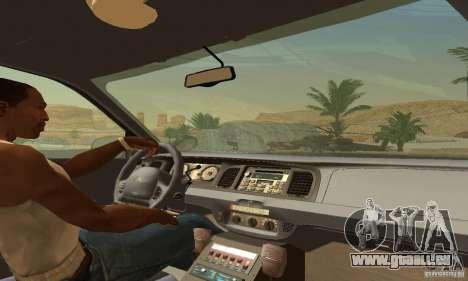 Ford Crown Victoria Wisconsin Police für GTA San Andreas zurück linke Ansicht