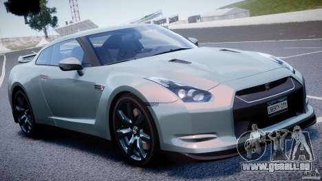 Nissan GT-R R35 2010 v1.3 pour GTA 4 vue de dessus