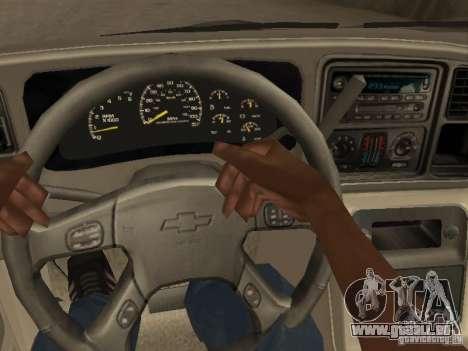 Chevrolet Suburban 2003 pour GTA San Andreas vue de côté